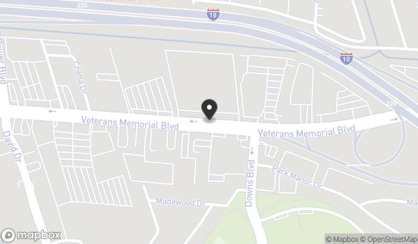 Location of White Water Creek Shopping Center: 6824 Veterans Memorial Blvd, Metairie, LA 70003