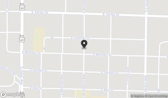 Location of 868 S Brunswick Ave, Marshall, MO 65340