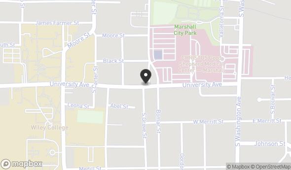 Location of 809 S Grove St, Marshall, TX 75670