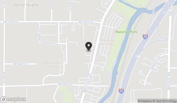 Location of 5340 Merriam Dr, Merriam, KS 66203