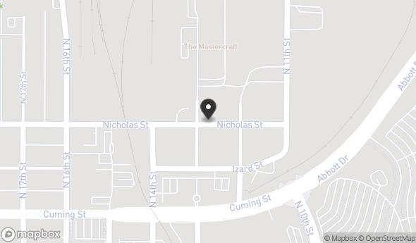 Location of 1218 Nicholas St, Omaha, NE 68102
