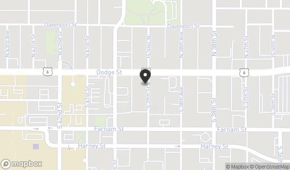 Location of The Mansion at Blackstone: 144 S 39th St, Omaha, NE 68131