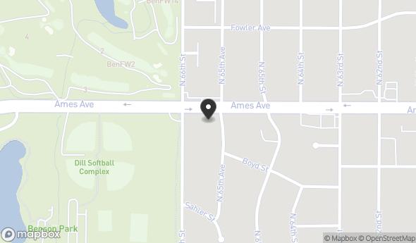 Location of 6553 Ames Ave, Omaha, NE 68104