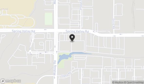 Location of 4100 Spring Valley Road, Dallas, TX 75244