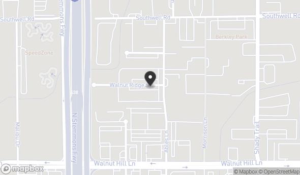 Location of Industrial For Lease: 2460 Walnut Ridge St, Dallas, TX 75229