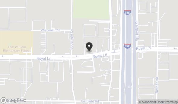 Location of 2333 Royal Ln, Dallas, TX 75229