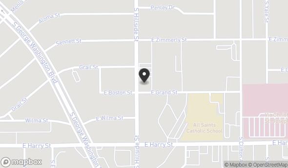 Location of 1148 S Hillside St, Wichita, KS 67211
