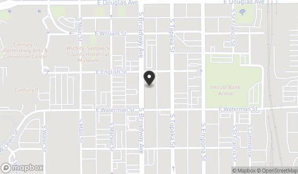 Location of Former Greyhound Bus Terminal: 312 S. Broadway, Wichita, KS 67202