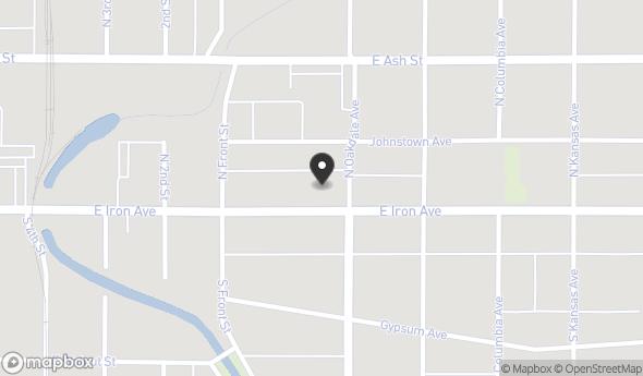 Location of 645 E Iron Ave, Salina, KS 67401