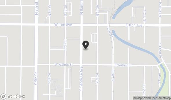 Location of 141 S Santa Fe Ave, Salina, KS 67401