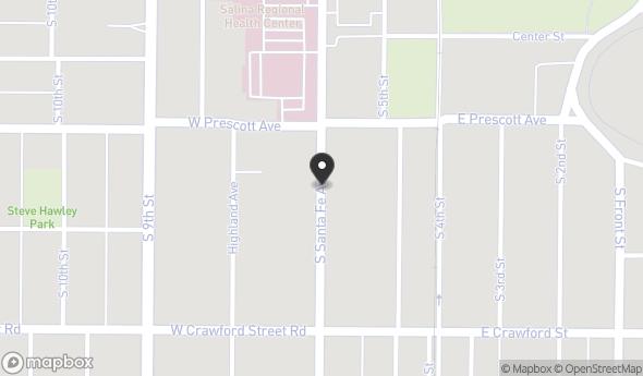 Location of 620 S Santa Fe Ave, Salina, KS 67401