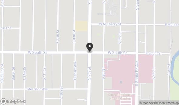 Location of 9th Street, Salina, KS 67401