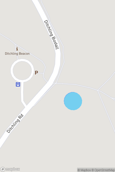 A map indicating the location of Ditchling Beacon