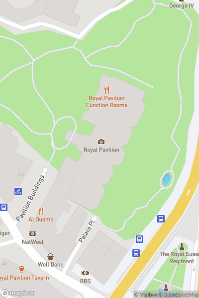 A map indicating the location of Royal Pavilion