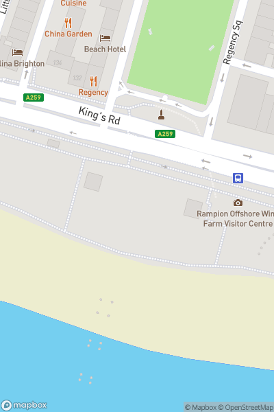 A map indicating the location of i360