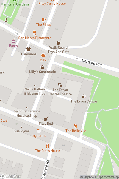 A map indicating the location of Filey Food Festival