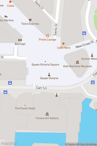 A map indicating the location of Santa's Arrival Parade - Hull