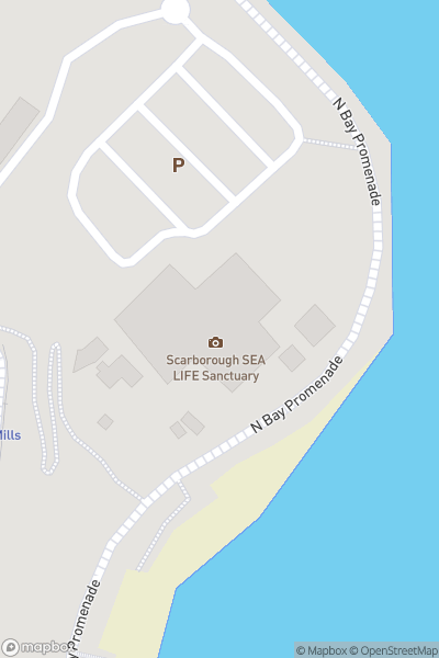 A map indicating the location of SEA LIFE Scarborough