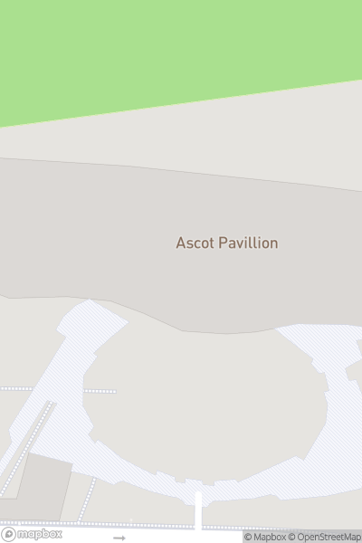 A map indicating the location of Ascot Racecourse