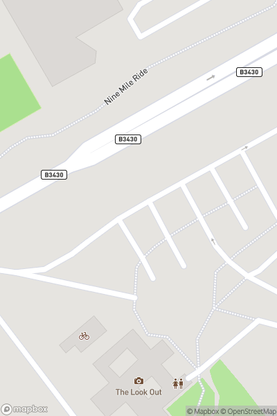 A map indicating the location of Look Out Discovery Centre, Bracknell