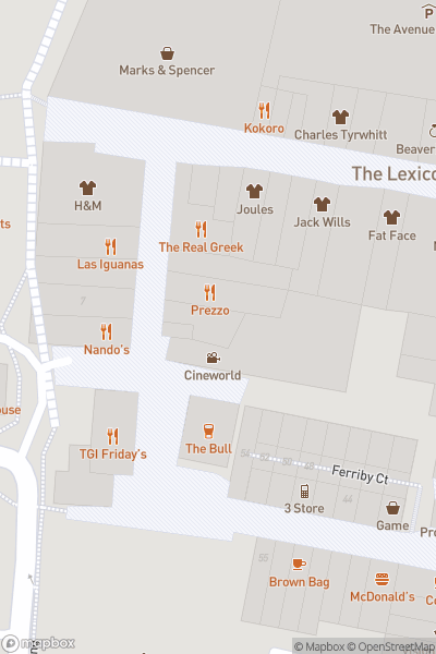 A map indicating the location of Cineworld Bracknell