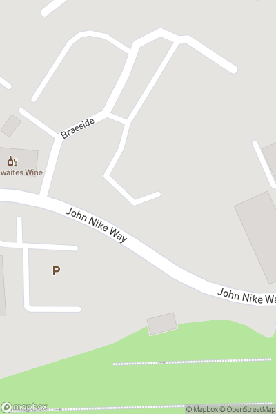 A map indicating the location of John Nike Ski Centre