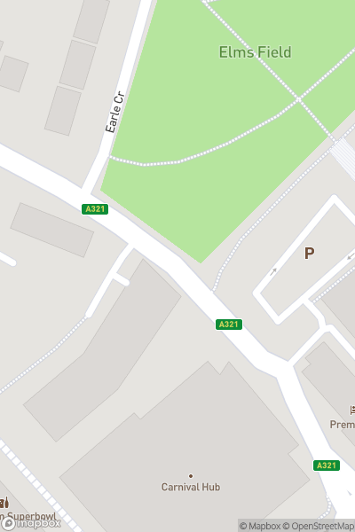 A map indicating the location of Wokingham Superbowl