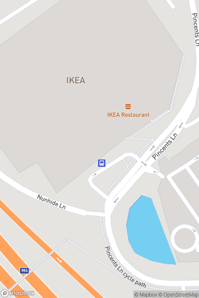 A map indicating the location of IKEA