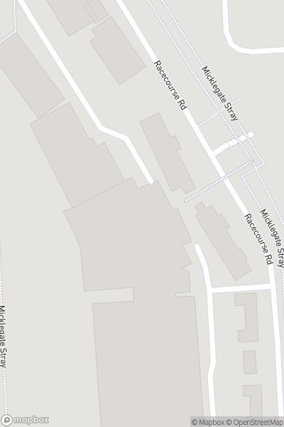 A map indicating the location of York Racecourse