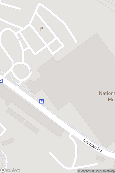 A map indicating the location of National Railway Museum