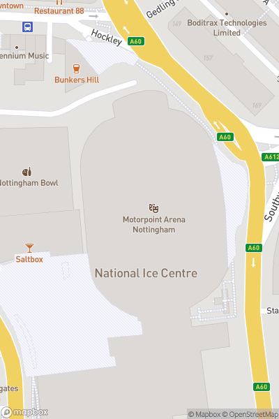 A map indicating the location of Robin Hood Beer and Cider Festival 2019
