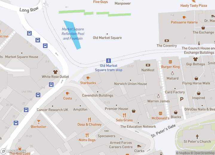 A map indicating the location of Travel Centre