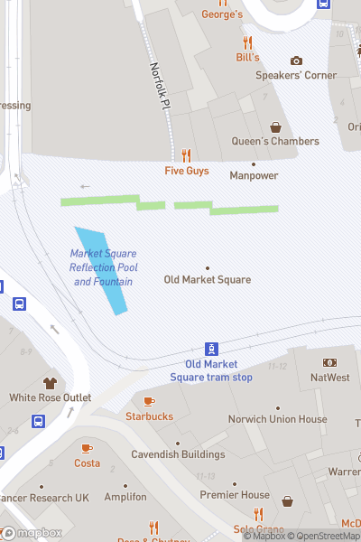 A map indicating the location of Light Night 2019