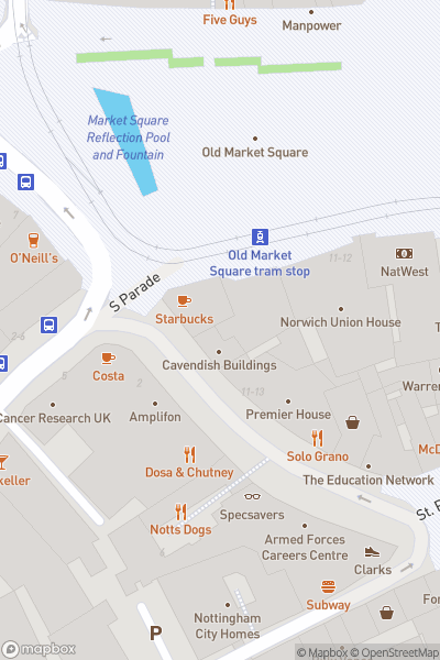 A map indicating the location of Bus Detective