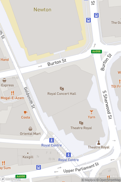 A map indicating the location of Annie at the Royal Concert Hall