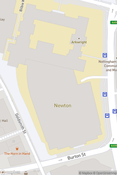 A map indicating the location of NTU City Campus