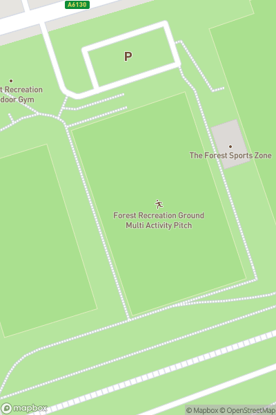 A map indicating the location of Forest Recreation Ground