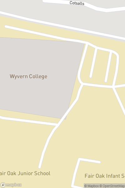 A map indicating the location of Wyvern College