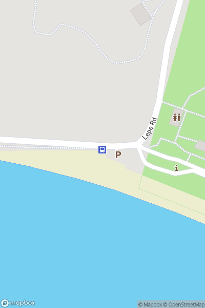 A map indicating the location of Lepe Beach - Bluestar 9
