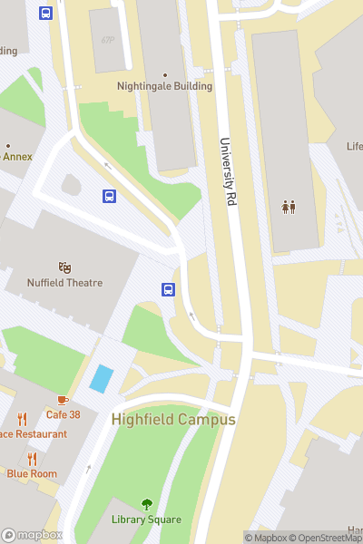 A map indicating the location of NST - Campus