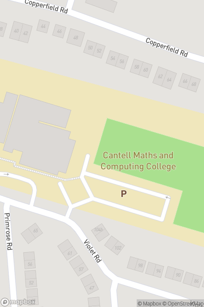 A map indicating the location of Cantell Secondary