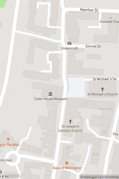 A map indicating the location of Tudor House and Garden