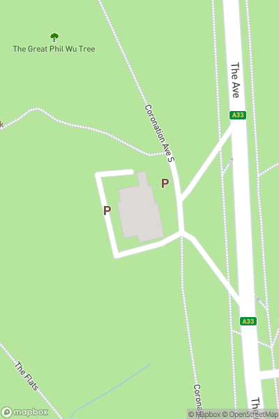 A map indicating the location of Hawthorns Urban Wildlife Centre