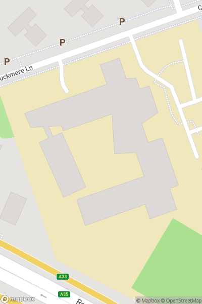A map indicating the location of Redbridge Community School