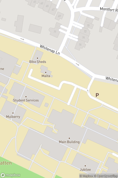A map indicating the location of Mountbatten School