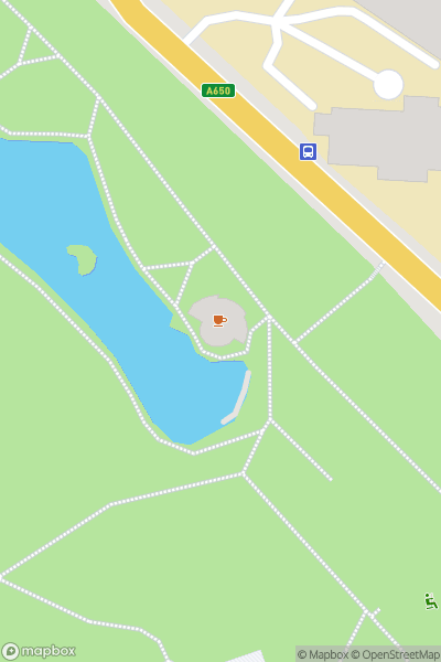 A map indicating the location of Lister Park