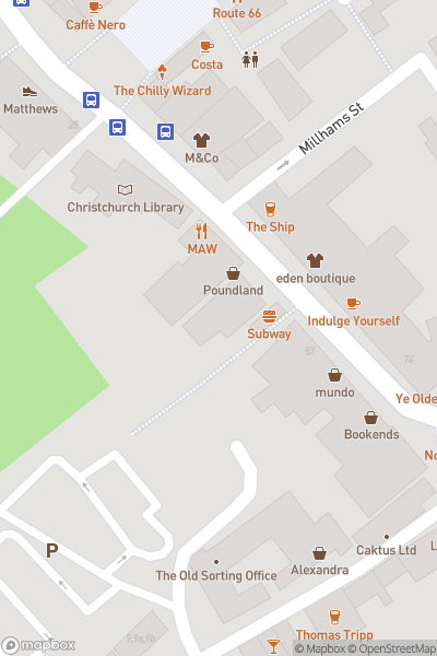 A map indicating the location of Regent Centre