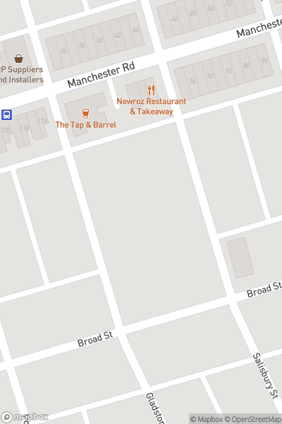 A map indicating the location of Broadgreen Community Centre Street Food Festival