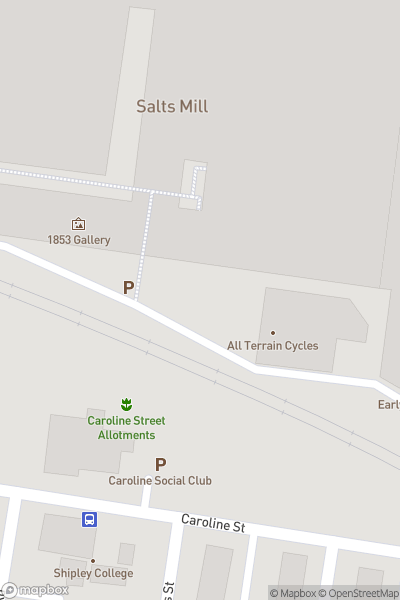 A map indicating the location of Salts Mill