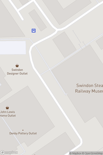A map indicating the location of STEAM Museum of the Great Western Railway